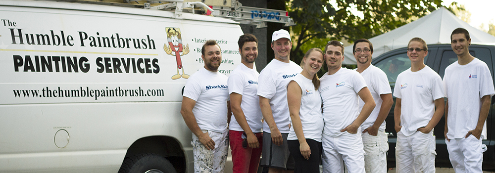 Our Abbotsford painting crew with our white van
