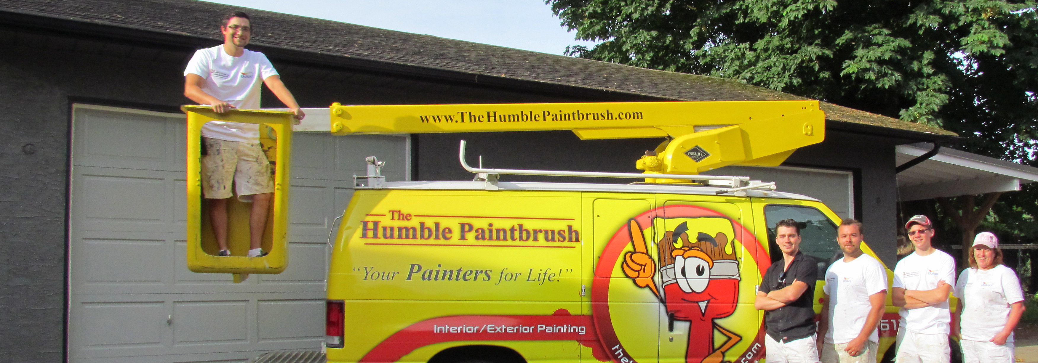 Our Abbotsford painting crew with our yellow bucket van